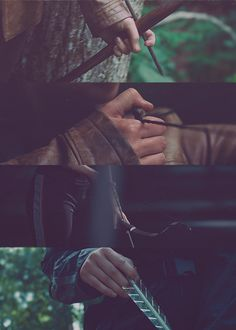 The Hunger Games: Katniss Everdeen → bow and arrow