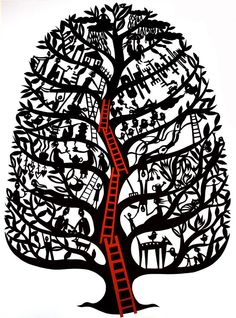 Contemporary narrative paper cut artwork by West Australian artist Sue Codee Paper Packaging, Doodle Designs, Australian Artists, Laser Cutting, Paper Art, How To Draw Hands, Contemporary, Gallery, Family Trees