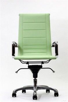 Malibu High Back Office Chair In Vinyl With Sched Ribbing Contemporary Task Chairs Lexington Modern