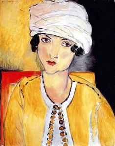 Lorette with Turban, Yellow Jacket by Henri Matisse