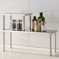 Organize your counter tops with stainless steel shelves