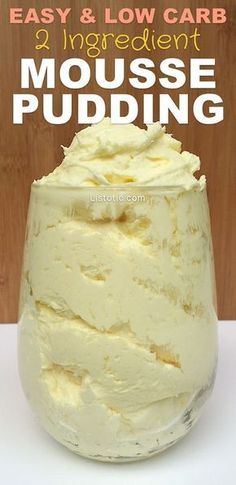 """This low-carb, sugar-free, heavenly dessert pudding is so rich and wonderful you won't need much to satisfy your sweet-tooth. The texture is almost like a cloud of frosting, only less sweet and more fluffy. The best part about this """"mousse"""" is that it's SOOO stinkin' easy, and you can use any flavor of instant pudding …"""