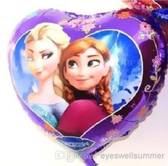 Online Cheap New Arrival Frozen Princess Queen Elsa Cartoon Design Foil Ballon/ Party Holiday #Balloon 18 Heart Shaped Helium Balloon By Eyeswellsummer | Dhgate.Com