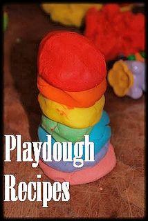 a whole gang of playdough recipes