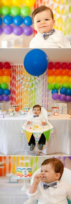 Bright First Birthday Party in a Rainbow of Colors   The Little Umbrella