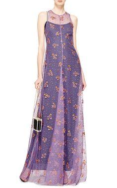 Glitter-Embellished Tulle Gown by Mary Katrantzou - Moda Operandi