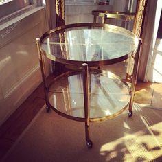 Antiques Atlas - Italian Circular Brass Drinks Trolley/coffee Table
