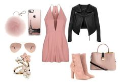 """""""sweet pink outfit"""" by kaja-232 ❤ liked on Polyvore featuring Topshop, Gianvito Rossi, Casetify, Ray-Ban, Accessorize, Pink and sweet"""