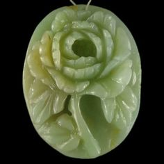 Peony Flower Pendant bead in Multi-color Amazonite