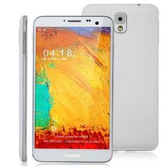 N9000 Android 4.2 Smartphone MTK6589T Quad Core 5.7 Inch FHD IPS Screen 1GB RAM 16GB White