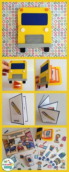 Your students will love this adorable back to school theme vocabulary pack. Interactive activities & games make speech therapy fun!