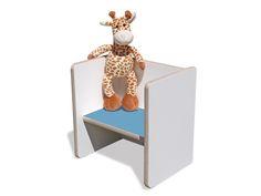 Stühle - Kinder Wendehocker – weiß, mit hellblauem Sitz - ein Designerstück von…