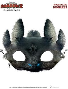 Free Printable Toothless Dragon Mask - How to Train Your Dragon 2
