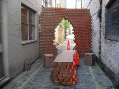 The Cardboard Cafe at the Design Festival captures the essence of recycling and reuse in a beautiful and subtle fashion. Crafted by b3 designers; the structure acts as a cafe in the morning time and serves as a bar in the late hours.