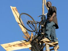 INSPIRING!!!! At age 14, in poverty and famine, a Malawian boy built a windmill to power his familys home. Now at 22, William Kamkwamba, who speaks at TED, here, for the second time, shares in his own words the moving tale of invention that changed his life.