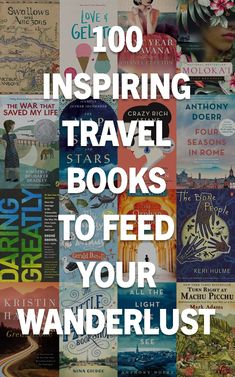 100 Best Inspirational Books that Will Make You Want to Travel the World These 100 inspiring travel books will take you to another time and place, fuel your wanderlust, and [& Best Travel Books, Literary Travel, Books About Travel, Travel With Kids, Family Travel, Best Inspirational Books, North And South America, Koh Tao, Travel Destinations