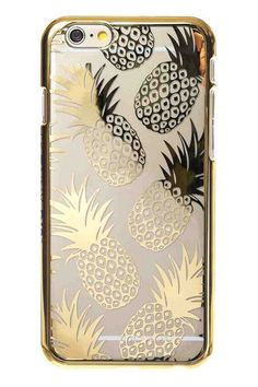 Skinnydip London Gold Pineapple iPhone 6 Case http://www.skinnydiplondon.com/collections/phone/products/iphone-6-gold-pineapple-case