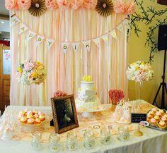 First birthday- dessert table set up