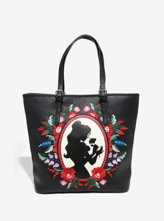 Loungefly Disney Beauty And The Beast Belle Embroidered Tote - BoxLunch Exclusive, , hi-res Disney Handbags, Disney Purse, Disney Inspired Fashion, Disney Fashion, Inspired Outfits, Disney Couture, Crossbody Bag, Tote Bag, Disney Beauty And The Beast