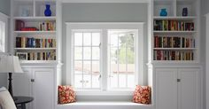 For my birthday, I told Aaron & my dad that I would really love built-in bookshelves and a toy box / window seat in the nursery. Well, the...