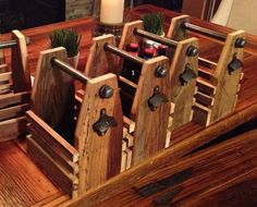 Reclaimed wood six pack beer carrier by WoodworkingReBorn on Etsy