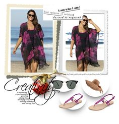 """""""Beach wear style"""" by chenzoe ❤ liked on Polyvore"""