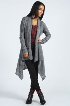 4275056993f Grey Cable Waterfall Cardigan I love you so very much. Mudpuppy Ceramic  Studio · Women s Fashion