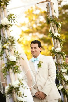Birch bark chuppah