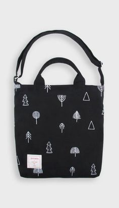 Fashiontroy Hipster & indie black printed cotton tote bag
