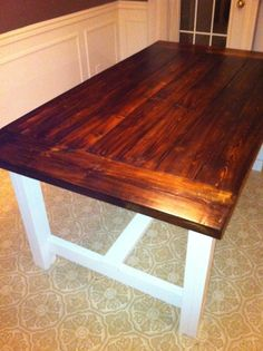 My Farmhouse Dining Table | Do It Yourself Home Projects from Ana White