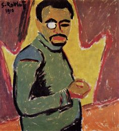 Karl Schmidt-Rottluff, Self Portrait with Monocle, 1910