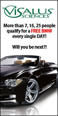 I luv bmw's but my current job will never let me afford one.  This is an interesting concept in how to get one.  I am considering joining this, looks like a nice side business I can promote when I am at the gym after work.  This visalus company seems like a solid public traded company and it's a small $50 investment, less then the price of some jeans.    #money #visalus #bmw