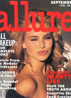 "Wonderful Magazine ""Allure"" from 1991. This is the 7th issue of this magazine. Inside: Madonna & Child, Scandal of Photo Retouching, Beauty Lies, Sensitive Skin, Food Cravings, Fall Makeup, Secrets from the Models' Hairdresser........as well as these beauties: Niki Taylor on Cover, Yasmeen Ghauri, Vendela, Elaine Irwin, Cindy Crawford, Linda Evangelista, Karen Mulder and others. 106 Pages This magazine is larger than usual and measures 10"" x 12"" . ."