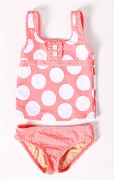 Take a look at this Peach Polka Dot Tankini - Girls by Down East Basics on today! Little Girl Swimsuits, Baby Girl Swimsuit, Cute Little Girls, My Little Girl, Toddler Girl Outfits, Kids Outfits, Polka Dot Tankini, Polka Dots, Girls Bathing Suits