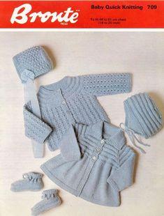 Baby QK 8ply Matinee Jackets bonnet