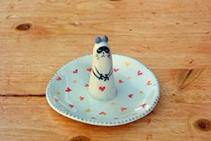 Your place to buy and sell all things handmade Shops, Animal Rings, Ring Dish, Jewelry Holder, Small Gifts, Ceramic Pottery, Tuxedo, Panda, Seal
