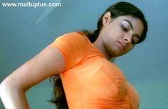 Meera peeking at her nice juicy breasts