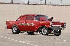 1957 Chevrolet Gasser Passenger Side