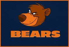 were talking football now DA bears Pet Logo, Sports Team Logos, Sports Art, Sports Teams, Nfl Sports, Monogram Logo, Bears Game, Football Crafts, Disney Logo