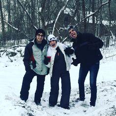 Equipados, protegidos e... congelados!!! Que frio é esse?!?!  #neve #snow #chicago #galena #illinois #familia #renanbarabanov