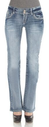 WallFlower Juniors Luscious Curvy Bootcut Jeans - For Sale