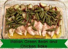 dinner, bake chicken, chicken breasts, baked chicken recipes, italian chicken, green beans, 24 day challenge, kid, meal
