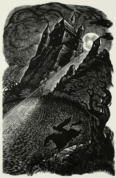 Fritz Eichenberg, wood engraving from The Fall of the House of Usher, Tales Of Edgar Allan Poe