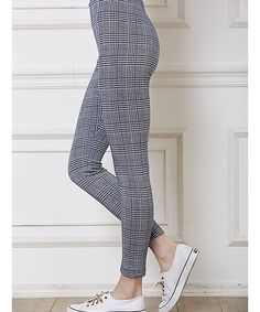 Navy Glen Plaid Leggings
