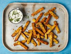 Yotam Ottolenghi's baked polenta and smoked haddock chips. Veg Recipes, Seafood Recipes, Great Recipes, Vegetarian Recipes, Favorite Recipes, Ottolenghi Recipes, Yotam Ottolenghi, Christmas Nibbles, How To Cook Polenta