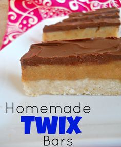 Homemade Twix Bars