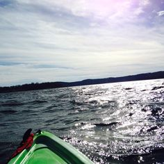 These spring like temperatures made it a great day for kayaking on Table Rock Lake. Wish you were here. Love, Branson