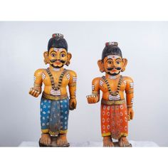 Antique Wooden Folk Art Figures