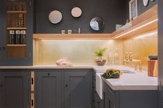Our modern industrial kitchen showroom at Nailsea Electrical is now available for viewing. Check out the stunning brushed brass splashback and more!