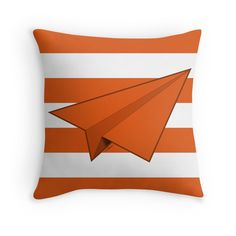 """Paper Airplane 39"" Throw Pillows by YoPedro 